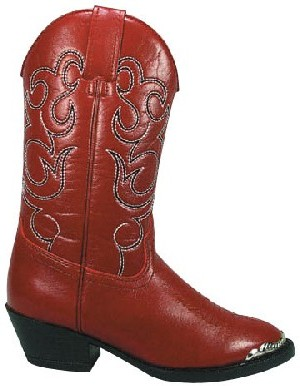 Smoky Boots Red Western Childrens