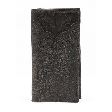 American West Distressed Brown Mens Leather Rodeo Wallet