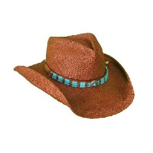 Shady Brady Turquoise Bead Hat