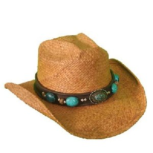 Shady Brady Turquoise Band Hat