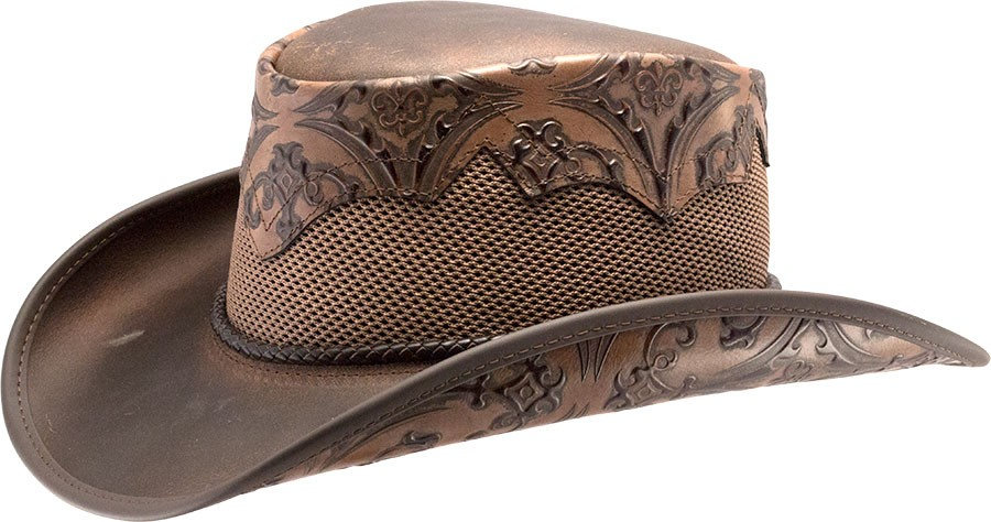Sierra Brown Leather Hat