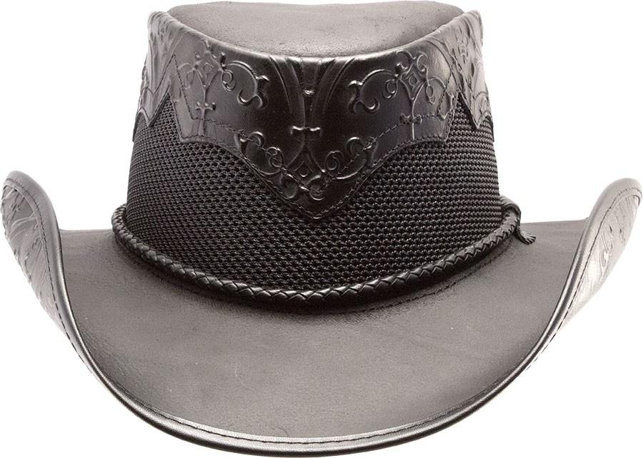Sierra Midnight Leather Hat