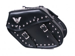 Slanted Saddle Bag with Studs