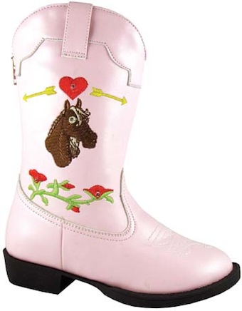 Toddler Smoky Boots Austin Light Up Boots Horsehead