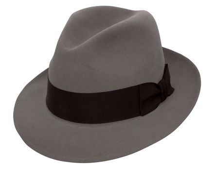 Stetson Saxon Felt Hat Grey