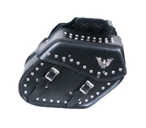 Studded Eagle Saddle Bag