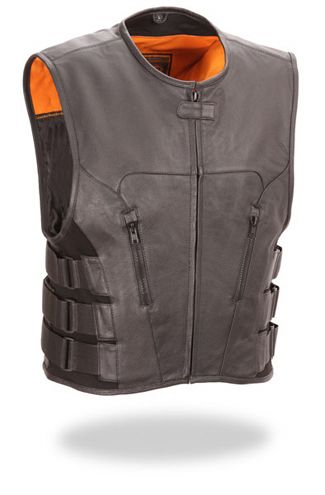 Adjustable Leather Vest