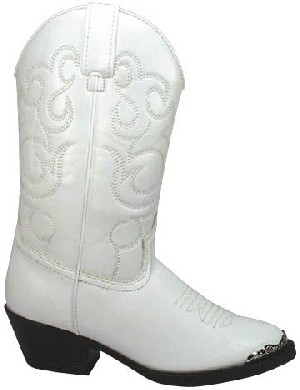 Smoky Boots Western White Childrens