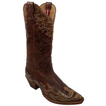 Womens Twisted X Steppin Out Chocolate/ Python