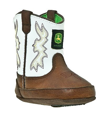 Infants John Deere Boots in White
