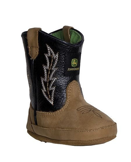 Infants John Deere Boots in Black