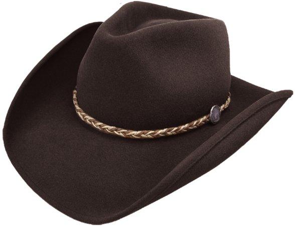 Stetson Buffalo Fur Felt Hat Black