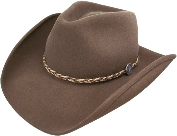 Stetson Buffalo Fur Felt Hat Brown