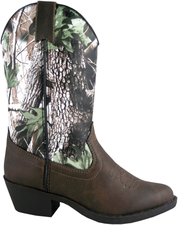Smoky Boots Childrens Woodland Tree Camo Boots