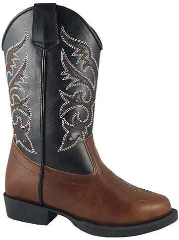 Childrens Light-Up Black/Brown Cowboy Boots