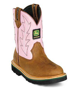 Kids John Deere Boots Pink