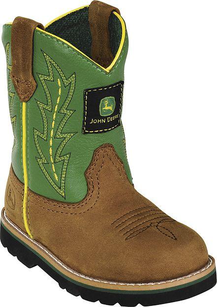 Kids John Deere Boots Green