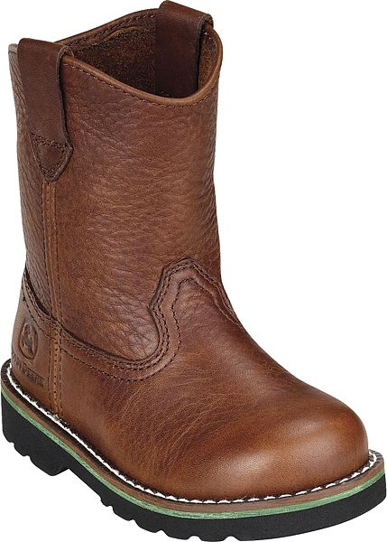 Toddlers John Deere Boots in Brown