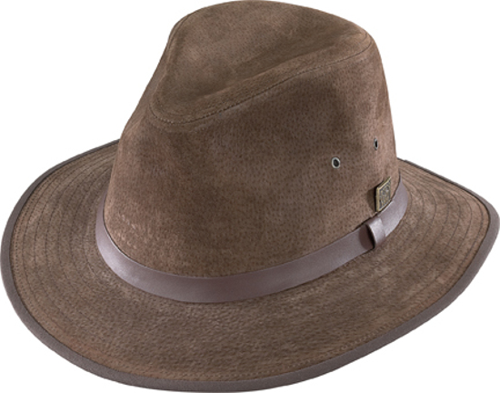 Henschel Safari Brown Leather Hat