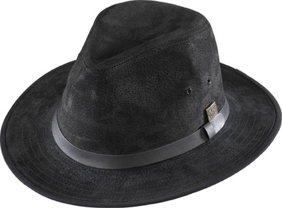 Henschel Safari Black Leather Hat