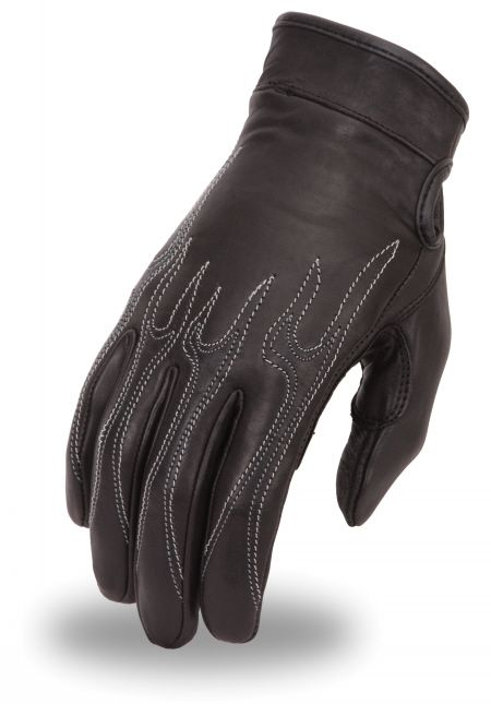 Flame Embroidered Gel Palm Glove