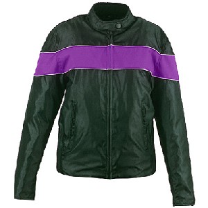 Purple and Black Nylon Jacket