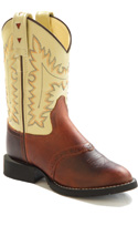Old West Brown and Beige Western Kids Boot