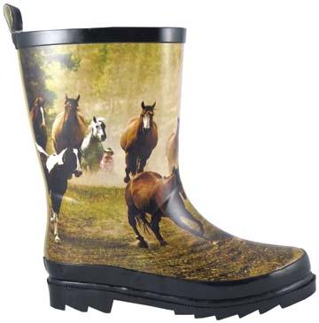 Smoky Boots Childrens Running Horse Rain Boot