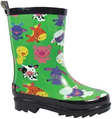Smoky Boots Childrens Barnyard Rain Boots
