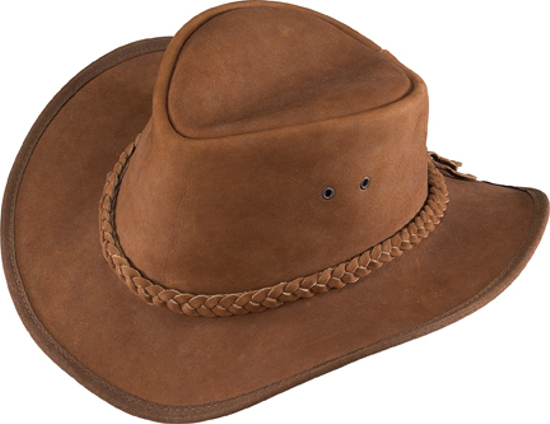 Henschel Outback Nubuck Chestnut Leather Hat