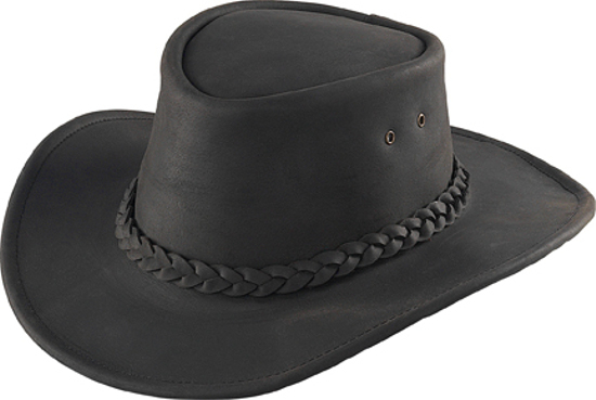 Henschel Australian Black Leather Hat