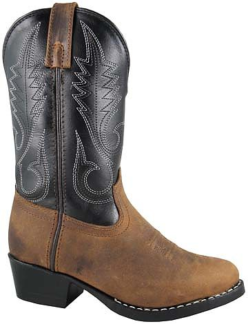 Smoky Boots Childrens Leather Rosewood