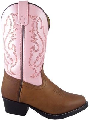 Smoky Boots Denver Pink/ Brown Childrens