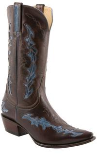 Charlie 1 Horse Mahog Sea Blue Boot