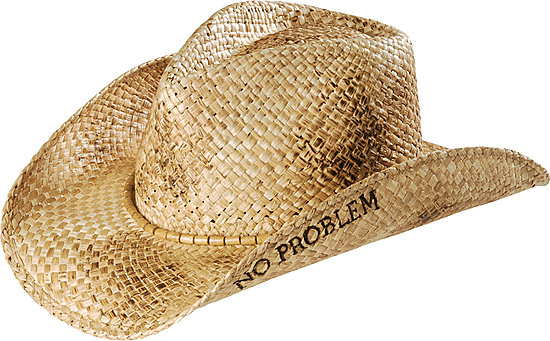 Kenny Chesney No Problem Straw Cowboy Hat
