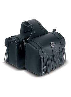 Economical Saddlebag with Concho and Fringe