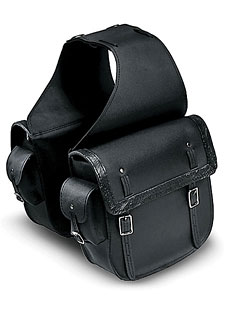 Motorcycle Saddlebag with Side Pockets
