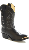 Old West Children's Black Western Kids Boot