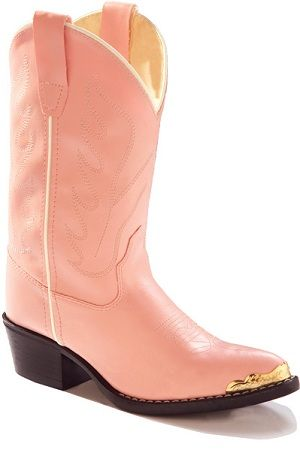 Old West Pink Western Girls Boot