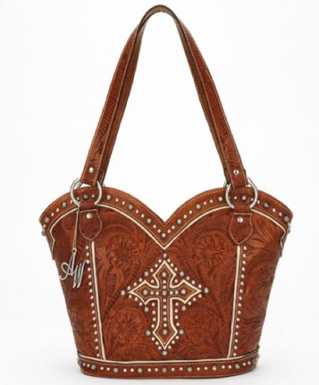 American West Caramel Boot Scoot Boogie Tote