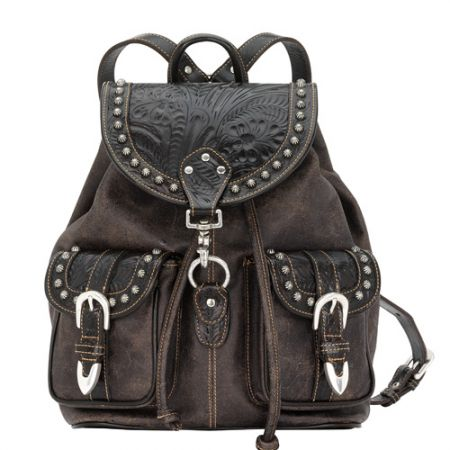 American West Large Brown/Black Backpack