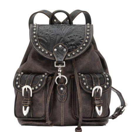 American West Large Brown/Black Backpack