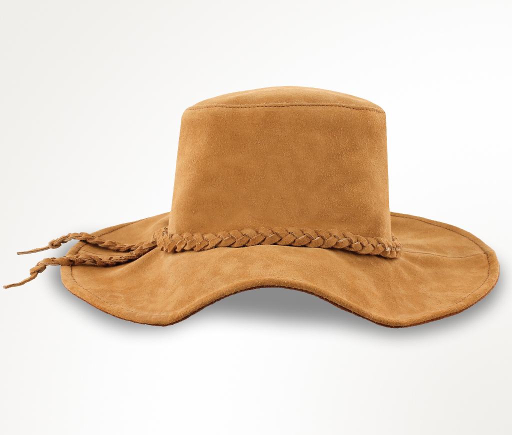 Minnetonka Parker Floppy Taupe Suede Hat