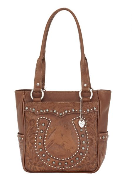 American West Horse Shoe Everyday Cowgirl Tote