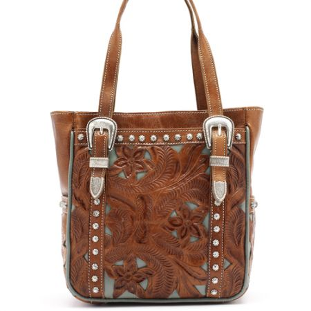 American West Brown/Turquoise Everyday Cowgirl Tote