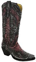 Womens Corral Charcoal Pink Eagle Cowboy Boots