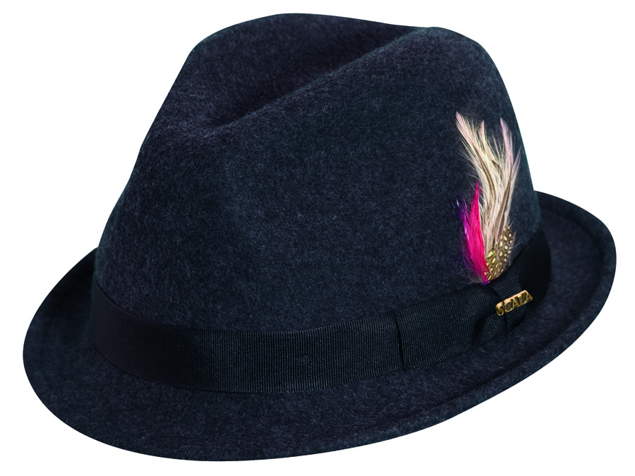 Scala Stingy Brim Fedora Charcoal