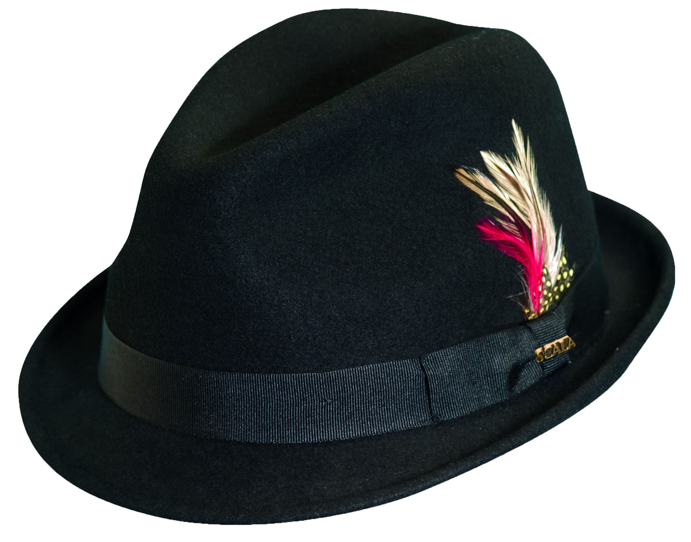 Scala Stingy Brim Fedora Black