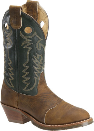 Men's Domestic Buckaroo Distressed with Green Upper
