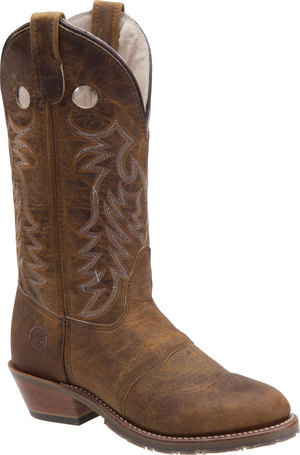 "Womens 12"" Ladies Gel Cell Ice Buckaroo Brown Double H Boot"